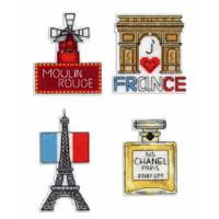 France Magnet Set Cross Stitch Kit by Mp Studia