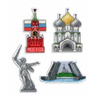 Russia Magnet Set Cross Stitch Kit by MP Studia