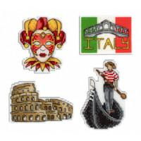 Italy Magnet Set Cross Stitch By Mp Studia