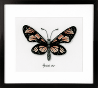 Counted Cross Stitch Kit: Orange Butterfly By Vervaco