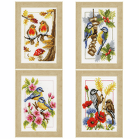 Counted Cross Stitch Kit: Four Seasons: Set of 4 By Vervaco