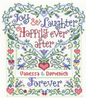 Happily Ever After Cross Stitch Kit by Sandra Cozzolino