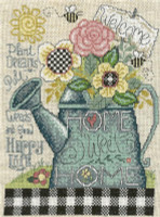 Plant pull and Grow Cross Stitch Chart By Diane Arthurs