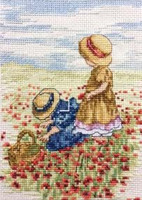 Poppy Fields Cross Stitch Kit by All our Yesterdays