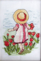 Tiptoe Through the Tulips Cross Stitch Kit by All our Yesterdays
