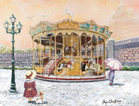 Snowy Carousel Cross Stitch Kit by All our yesterdays