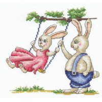 BUNNIES FIRST DATE-cross stitch kit by Andriana