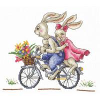 BUNNIES. LIKE A WIND-cross stitch kit by Andriana
