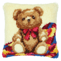 Latch Hook Kit: Cushion: Teddy By Vervaco