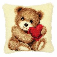 Latch Hook Kit: Cushion: Teddy 2 By Vervaco