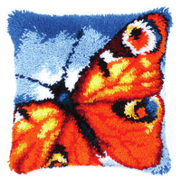 Latch Hook Kit: Cushion: Butterfly By Vervaco