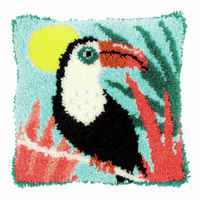 Latch Hook Kit: Cushion: Toucan By Vervaco