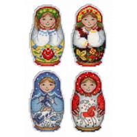 Russian Dolls Magnets Cross Stitch Kits