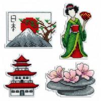 Japan Magnets Cross Stitch Kits