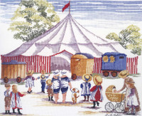 Circus Comes to Town Cross Stitch Kit by All our Yesterdays