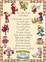 12 Days of Christmas Cross Stitch Kit by All our Yesterdays
