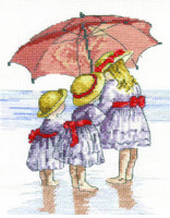 Three Girls Cross Stitch Kit by All our Yesterdays