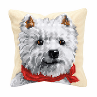 Cross Stitch Kit: Cushion: West Highland Terrier By Vervaco