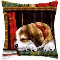 Cross Stitch Kit: Cushion: Dog Sleeping By Vervaco