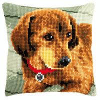 Cross Stitch Kit: Cushion: Dachshund By Vervaco