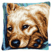 Cross Stitch Kit: Cushion: Dog By Vervaco