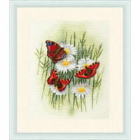 Magic Butterflies Cross Stitch Kit by Golden Fleece