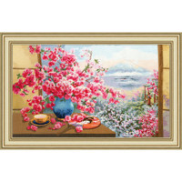 Sakura Bouquet Cross Stitch Kit by Golden Fleece