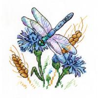 Cornflower Aroma Cross Stitch Kit by MP Studia