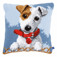 Cross Stitch Cushion Kit: Jack Russell By Vervaco