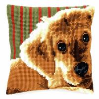 Cross Stitch Kit: Cushion: Dog 2 By Vervaco