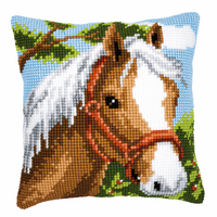 Cross Stitch Kit: Cushion: Pony By Vervaco