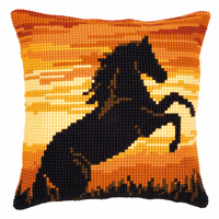 Cross Stitch Kit: Cushion: Sunset Stallion By Vervaco