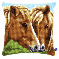 Cross Stitch Kit: Cushion: Horses By Vervaco
