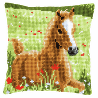 Cross Stitch Kit: Cushion: Foal By Vervaco