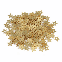 Extra Value: Sequins: Stars: Small: Gold:  Pack of 500