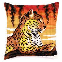 Cross Stitch Kit: Cushion: Leopard By Vervaco
