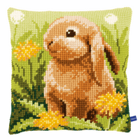 Cross Stitch Kit: Cushion: Little Hare By Vervaco