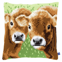 Cross Stitch Kit: Cushion: Two Calves By Vervaco