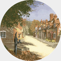 The Old Pump cross stitch kit by John Clayton