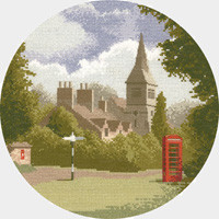 Village Green cross stitch kit by John Clayton