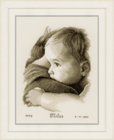 Counted Cross Stitch Kit: Birth Record: Baby Hug by Vervaco