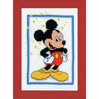 Counted Cross Stitch Kit: Disney: Mickey Mouse by Vervaco
