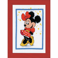 Counted Cross Stitch Kit: Disney: Minnie Mouse By Vervaco
