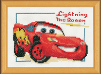 Counted Cross Stitch Kit Lightning McQueen By Vervaco