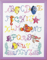 Counted Cross Stitch Kit Nemo Alphabet by Vervaco