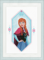 Anna Frozen Cross Stitch Kit by Vervaco