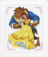 Beauty and the Beast Cross Stitch Kit by Vervaco