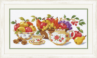 Afternoon Tea Cross Stitch Kit by Vervaco