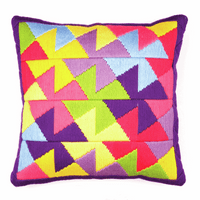 Long Stitch Cushion Kit: Bold Geometric Style By Vervaco