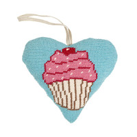 Cupcake Lavender Heart Tapestry Kit By Cleopatra